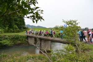 横輪川に架かる橋(伊勢市上野町)