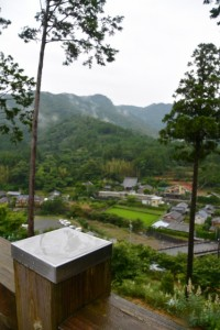 宮山の展望台から望む横輪町