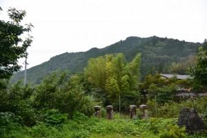 郷の恵・風輪の駐車場に残されている親柱