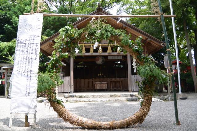 まだ残されていた茅の輪(今社)