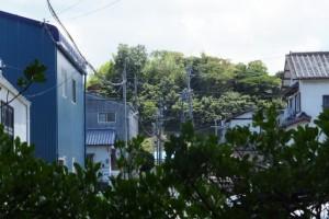 橘神社から望む向山(?)方向