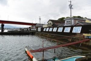 海の駅 神社からの一色大橋の遠望