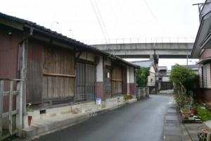 御食神社(豊受大神宮摂社)から一色大橋の遠望