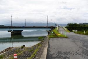 五十鈴川左岸、汐合大橋下流側付近