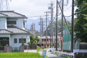 御塩道(二軒茶屋餅〜神久交差点)にてJR参宮線の遠望