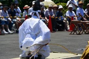 弓馬術礼法小笠原流 古式歩射 三三九手挟式(山田奉行所記念館)