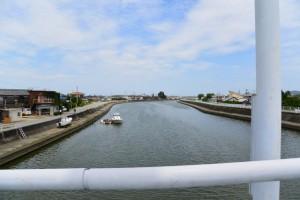勢田大橋から望む勢田川の下流側