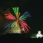 第60回鳥羽みなとまつりの花火、自宅ベランダからの観覧