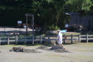 採鹹作業の準備が進められていた御塩浜