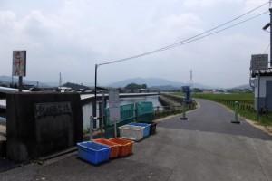 勢田川の左岸、勢田大橋付近