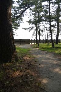二見浦海岸側の出入口(御塩殿神社)