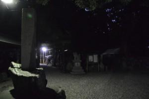 志等美神社・大河内神社(共に豊受大神宮摂社)の仮遷座祭前夜(上社)
