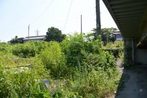 民家が解体され、消えた「宮川渡場」道標