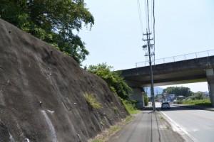 伊勢自動車道をくぐる(県道22号、伊勢南島線)