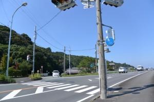 新旭橋(朝川)付近の丁字路