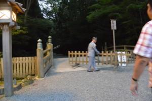 外宮北御門口 火除橋、夜間の参拝停止解除