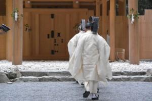 風日祈祭、土宮への参進(外宮)