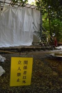 覆屋が設置された志等美神社・大河内神社(共に豊受大神宮摂社)