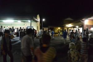 麻加江かんこ踊り、踊りの後で(度会町麻加江)