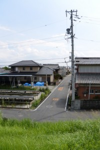 雲出橋(雲出川)の南詰〜松浦武四郎生家(伊勢街道)