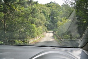 河内ダムから第二伊勢道路河内橋付近への途中に架かる橋(鳥羽市河内町)