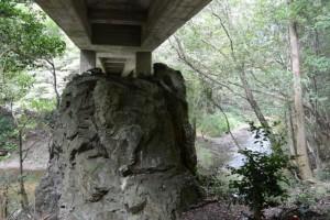 鳥羽河内川に架かる橋の下(鳥羽市河内町)