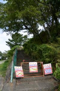 鳥羽城本丸跡は関係者以外立入禁止