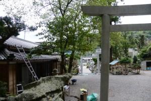 式年遷宮の準備が進められる賀多神社(鳥羽市鳥羽)