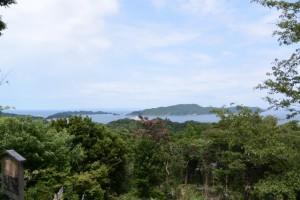 「鳥羽十景 樋の山扇野からの展望」説明板付近からの眺望