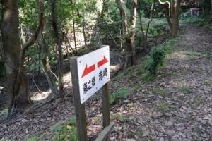 「←藤之郷 赤崎→」の案内板
