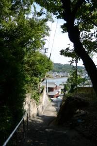 加茂川の遠望(藤之郷から赤崎への山越え)