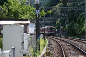 近鉄志摩線 踏切道中之郷第12号付近から望む近鉄 志摩赤崎駅