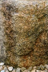 神楽殿前の手水石に浮き出る顔?(外宮)