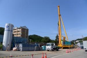 基礎工事中(国道42号 旅荘 海の蝶入口付近)