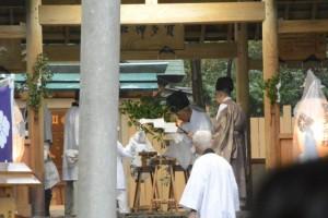 神事の準備(賀多神社)