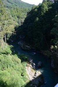 金輪橋から望む藤川の下流側
