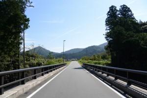 金輪橋(藤川)から望むむかしのくらし博物館方向