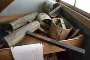 上棟祭で使用した道具(木槌ほか)(むかしのくらし博物館)