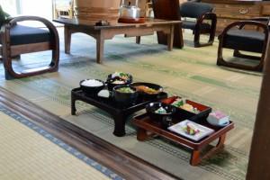 本膳料理のサンプル(むかしのくらし博物館)