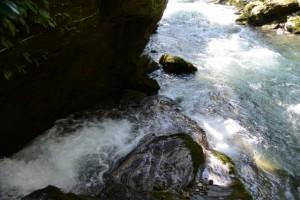 金輪不動明王の滝付近、藤川との合流(大紀町金輪)
