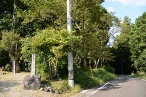 櫃井原神社からの旧金輪橋(藤川)へ(大紀町金輪)