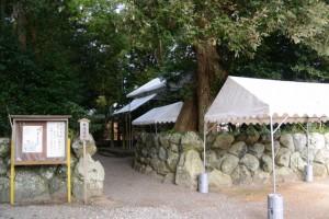 志等美神社・大河内神社(豊受大神宮摂社)への入口付近(上社)