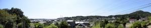 池渓寺からの風景(磯部町恵利原)