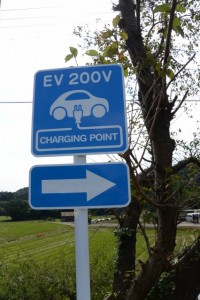 EV 200V(CHARGING POINT)の案内板
