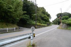 新玉橋(中ノ川)付近の(!)地点
