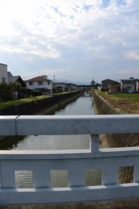 五六橋から望む五六川の上流方向