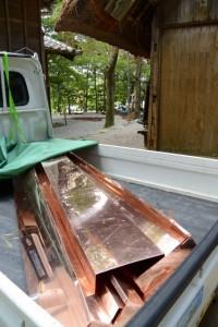 銅板の準備(松下社)