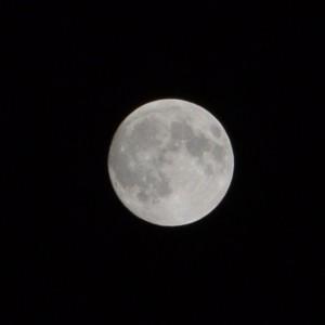 自宅のベランダから見上げた中秋の名月