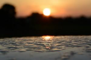 河原神社(豊受大神宮摂社)からの日の出