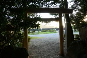 松下社からの風景(伊勢市二見町松下)